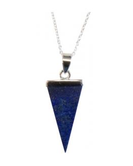 Pendentif - Lapis lazuli - Pointe biterminée
