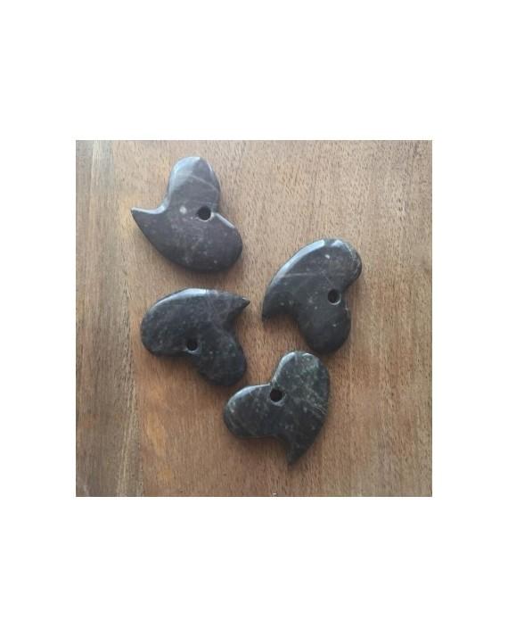 Pendentif - Lepidolite - Coeur incliné