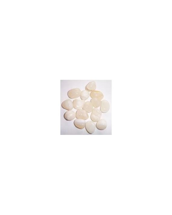 Agate blanche pierre roulée