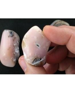 Opale rose - Pierre roulée