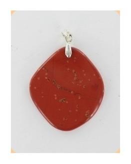 Pendentif - Jaspe rouge - Plaque