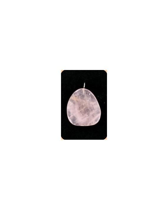 Pendentif - Petalite rose - Pierre plate