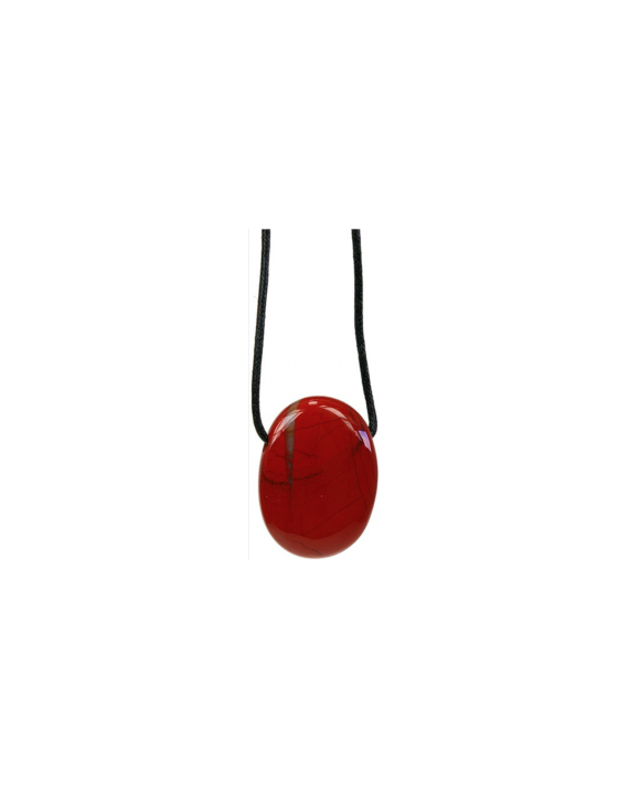 Pendentif - Jaspe rouge - Pierre ovale