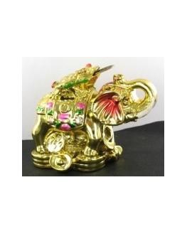 Feng shui - Statuette - Éléphant- Grenouille avec pièce