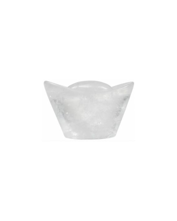 Lingot porte-bonheur cristal de roche