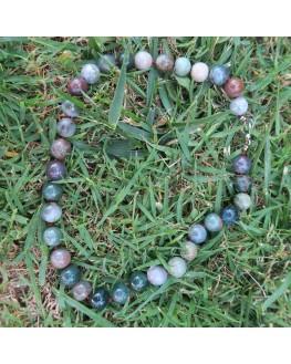Collier en perles d'agate indienne 6mm