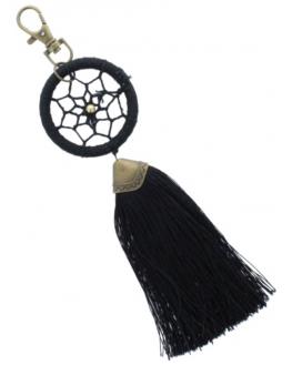 Porte Clés Dreamcatcher Pompon Noir