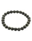 Bracelet Homme Pyrite Perles rondes 8 mm