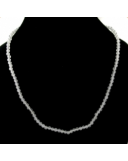 Collier Jade blanc 4mm