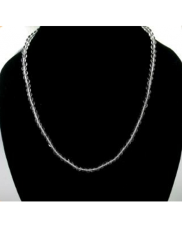Collier Cristal de roche 4mm
