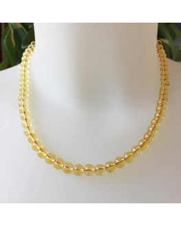 Collier Citrine Perles 8 mm