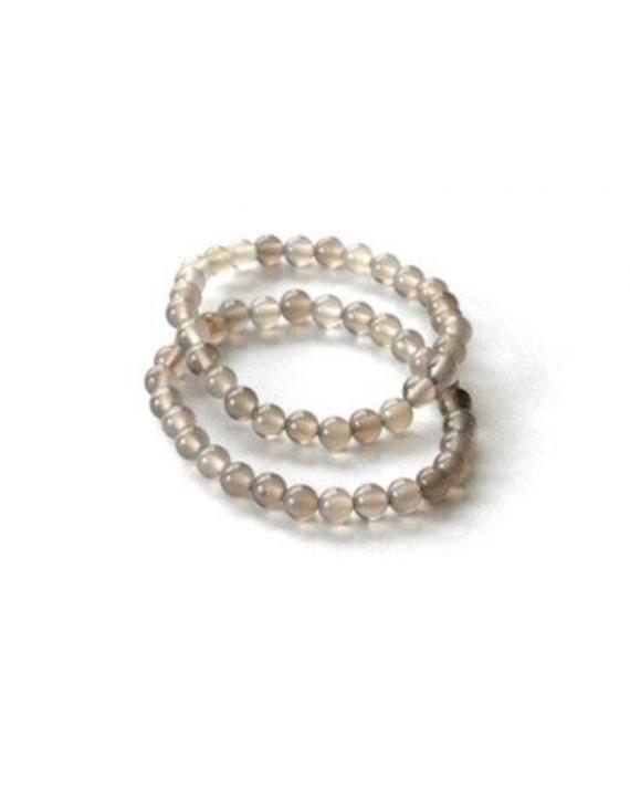 Bracelet Agate naturelle boules 6mm