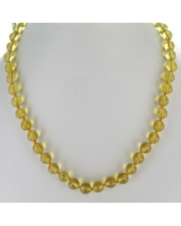 Collier citrine boules 8mm 45cm