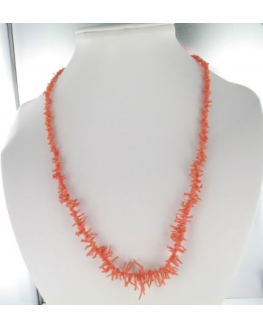 Collier corail rose Branche