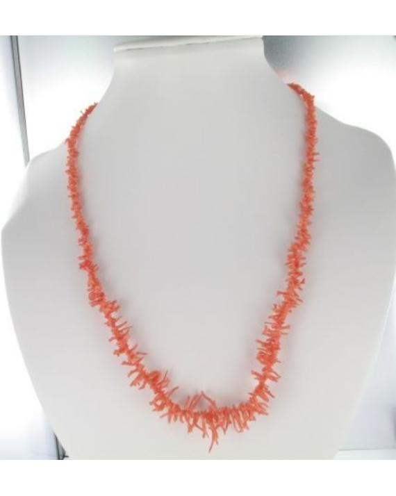 Collier corail rose Branche
