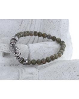 Bracelet Labradorite Perles rondes 6 mm et Perle Bouddha