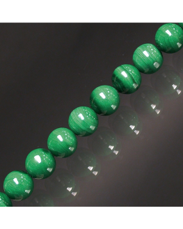 Bracelet Malachite boules 8mm