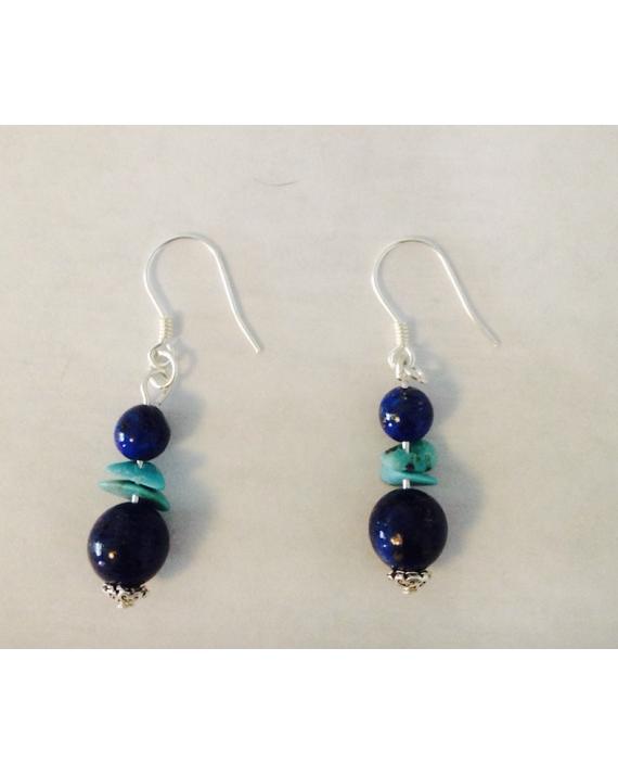 Boucles d'oreilles émotivité en lapis lazuli