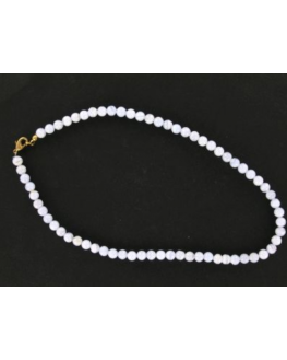 Collier Calcédoine 6mm