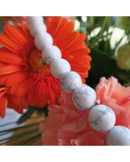 Collier - Howlite - perles 6mm