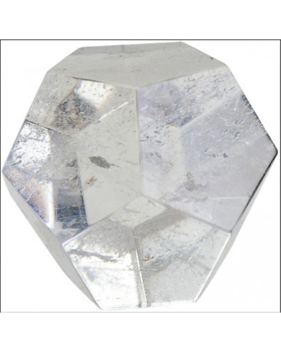 Dodécaèdre - Cristal de roche - 4,5 cm