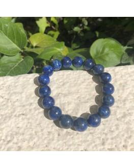 Bracelet lapis lazuli  perles 12mm