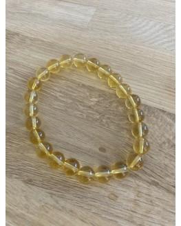 Bracelet citrine perles 8mm