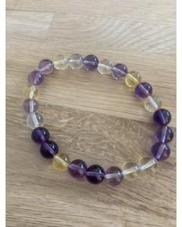 Bracelet Amétrine perles de 8mm