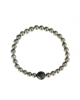 Bracelet en Pyrite perles 6mm