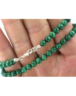 Collier en perles de Malachite 8mm