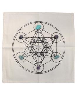 Tapis de Géométrie Sacrée - cube de Métatron