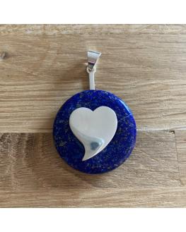 Bijoux - Accessoire - Porte donut coeur argenté