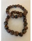 Bracelet pierres roulées Jaspe océan