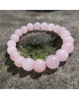Bracelet quartz rose 12mm