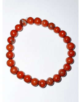 Bracelet Jaspe Rouge - Pierres de 8mm