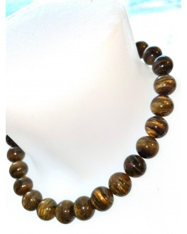 Collier Oeil de Tigre 14mm