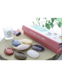 Coffret Massage Galets 7 Chakras