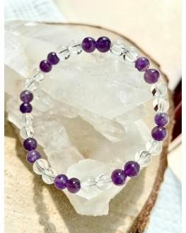 Bracelet Jullia - Améthyste, Cristal de Roche