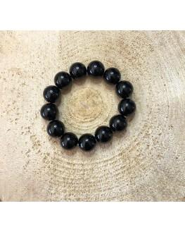 Bracelet - Tourmaline noire - Perles de 10 mm