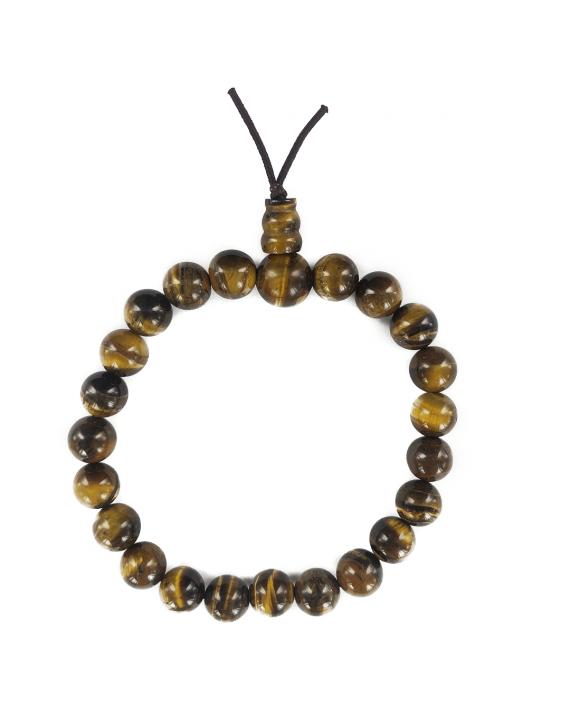 Bracelet mala tibétain en oeil de tigre
