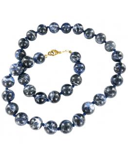 Sodalite - Collier en perles de 12 mm
