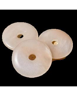 Aventurine Rose - Pendentif Donut 4.5cm