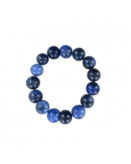 Sodalite - Bracelet perles de 12 mm