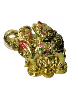 Statuette - Éléphant- Grenouille - Feng shui
