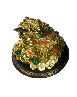 Statuette - Grenouille avec pièce - Feng shui