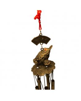 Carillon grenouille avec pièce - Feng Shui