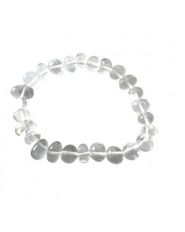 Cristal de Roche - Bracelet pierres roulées
