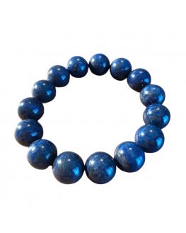 Bracelet lapis lazuli  perles 14mm