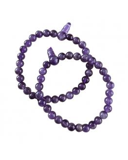 Améthyste -Bracelet Mala Tibétain - Taille au choix