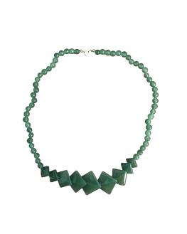 Collier - Aventurine verte - Pierres carrées